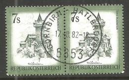 AUSTRIA. 7s BUILDINGS USED DORNBIRN HATLERDORF POSTMARK - 1971-80 Usados