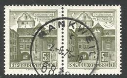 AUSTRIA. BUILDINGS. 1.30s PAIR USED RANKWELL POSTMARK - 1961-70 Usados