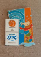 2004 Athens Olympic Games, OTE Sponsor, Logo Pin With Paralympic Mascot Proteas. EXTRA RARE!!! - Jeux Olympiques