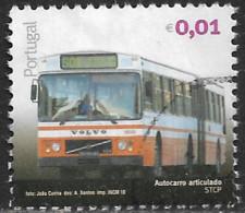 Portugal – 2010 Public Transports 0,01 Euros Used Stamp - Gebruikt