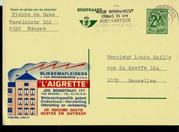 Publibel Obl. N° 2453  ( Paratonnerre - L' Aigrette - Brussel - électricité - Feu - Fire) Obl. ANTWERPEN 20/03/73 - Publibels