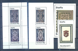 STAFFA PERFORED + IMPERFORED    MNH - Andere