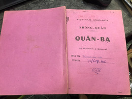 Viet Nam South Book Id -military Records Of Former Government Officials Before 1975-(so Quan Ba Si Quan-year--Name/-truo - Old Books