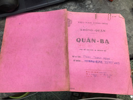 Viet Nam South Book Id -military Records Of Former Government Officials Before 1975-(so Quan Ba Si Quan-year--Name/-pham - Old Books