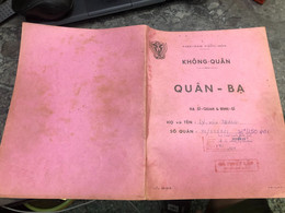 Viet Nam South Book Id -military Records Of Former Government Officials Before 1975-(so Quan Ba Si Quan-year--Name/-ly V - Old Books
