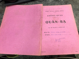 Viet Nam South Book Id -military Records Of Former Government Officials Before 1975-(so Quan Ba Si Quan-year--Name/-bang - Old Books