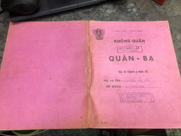 Viet Nam South Book Id -military Records Of Former Government Officials Before 1975-(so Quan Ba Si Quan-year--Name/-nguy - Old Books