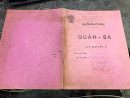 Viet Nam South Book Id -military Records Of Former Government Officials Before 1975-(so Quan Ba Si Quan-year--Name/-vo V - Old Books