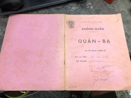 Viet Nam South Book Id-military Records Of Former Government Officials Before 1975(so Quan Ba Si Quan-year-Name/-do Van - Old Books