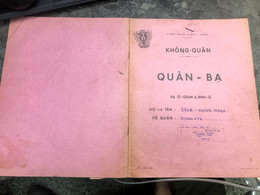 Viet Nam South Book Id-military Records Of Former Government Officials Before 1975(so Quan Ba Si Quan-year-Name/-dang Th - Old Books