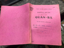 Viet Nam South Book Id-military Records Of Former Government Officials Before 1975(so Quan Ba Si Quan-year-Name/-le Van - Old Books