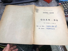 Viet Nam South Book Id-military Records Of Former Government Officials Before 1975(so Quan Ba Si Quan-year-Name/-chung V - Old Books