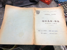 Viet Nam South Book Id-military Records Of Former Government Officials Before 1975(so Quan Ba Si Quan-year-Name/-dinh Va - Old Books