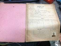 Viet Nam South Book Id-military Records Of Former Government Officials Before 1975(so Quan Ba Si Quan-year-Name/-ly Du H - Old Books