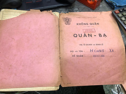 Viet Nam South Book Id-military Records Of Former Government Officials Before 1975(so Quan Ba Si Quan-year-Name/-hong Xa - Old Books