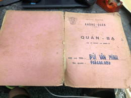 Viet Nam South Book Id-military Records Of Former Government Officials Before 1975(so Quan Ba Si Quan-year-Name/-bui Van - Old Books