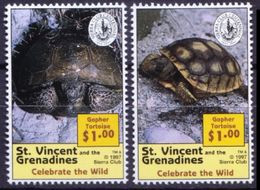 Gopher Tortoise, Reptiles, St. Vincent & Gr. 1997 MNH - Turtles