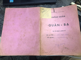 Viet Nam South Book Id-military Records Of Former Government Officials Before 1975(so Quan Ba Si Quan-year-Name/-ngo Duo - Old Books