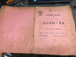 Viet Nam South Book Id-military Records Of Former Government Officials Before 1975(so Quan Ba Si Quan-year-Name/-dang Va - Old Books