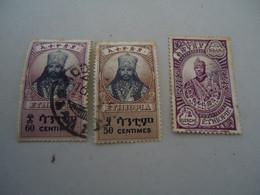 ETHIOPIA  USED STAMPS  KINGS - Etiopía
