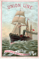 Pub - UNION LINE - Compagnie Maritime - Destinations - Années 1900 - Bateau - - Boats