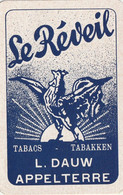 Le Réveil Tabakken L Dauw Appelterre  1 Kaart 1 Card - Carte Da Gioco