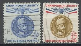 Etats Unis - Vereinigte Staaten - USA 1960 Y&T N°702 à 703 - Michel N°795 à 796 (o) - C G De Mannerheim - Gebruikt