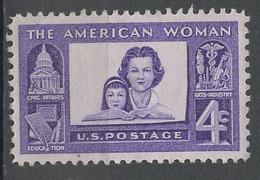 Etats Unis - Vereinigte Staaten - USA 1960 Y&T N°686 - Michel N°780 Nsg - 4c Femme Américaine - Ongebruikt