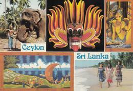 Sri Lanka Ceylon Elephant , Traditional Mask 1986 Nice Stamp - Sri Lanka (Ceylon)