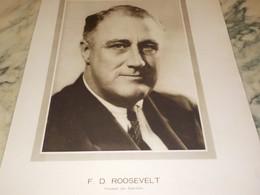 PHOTO F.D ROOSEVELT 1937 - Altri