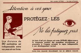 Buvard Attention à Vos Yeux Protégez-les, Ne Les Fatiguez Pas - Chemist's