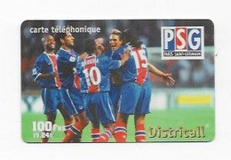 CARTE TELEPHONIQUE PARIS SAINT GERMAIN 100 FRS = 15.24 EUROS  DATE EXPIRATION  31/04/2001  BON ETAT 2 SCANS - Sport