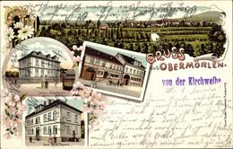 Lithographie Ober Mörlen Im Taunus Hessen, Gesamtansicht, Neues Schulhaus, Altes Schulhaus, Gasthaus - Other