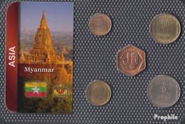 Myanmar Stgl./unzirkuliert Kursmünzen Stgl./unzirkuliert Ab 1975 5 Pyas Bis 1 Kyat - Myanmar