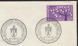 EUROPA 25c Y.T.1358 SEUL Sur Enveloppe Cachet Philatélique  De 78 MESNIL LE ROI 20-21 4 1963  Pour 78 VILLENNES - 1961-....