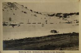 WW1 - Guerre - Weltkrieg 1914/15 Scene // Artillerie Am Marche In De Karpathen Ca 1915 - Oorlog 1914-18