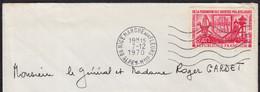 43ème Congrès 40c Y.T.1642 SEUL Sur Enveloppe  De 06 NICE Marché Aux Fleurs Le 7 12 1970  Pour Le Général GARDET - 1961-....
