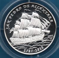CUBA 10 PESOS 2000 KM# 760 Argent 999‰ Silver  PROOF SAN PEDRO DE ALCÁNTARA Bateau - Cuba
