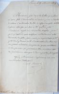 Marquis Dessolles, General De La Révolution Et De L'Empire. 1819. - Autographs