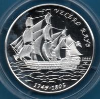 CUBA 10 PESOS 2000 KM# 759 Argent 999‰ Silver  PROOF VELERO RAYO Bateau - Cuba