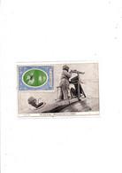 VIGNETTE ESCADRILLE MF22 SUR CPA MITRAILLEUSE D AEROPLANE - Vignettes Militaires