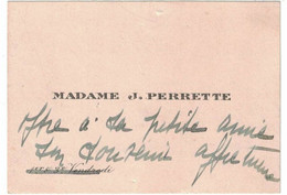 MADAME J. PERRETTE 1er Et 3e VENDREDI - Visiting Cards