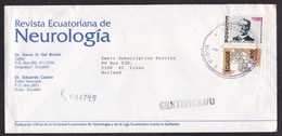 Ecuador: Registered Cover To Netherlands, 1990s, 2 Stamps, Scouting, Scouts, History (minor Damage) - Ecuador