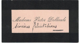 MADAME VICTOR DOLLIEULE MERCREDI - Visiting Cards