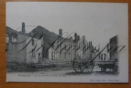 Bazeilles Sedan D08  La Grande Rue Incendiée En 1870. - Catastrofi