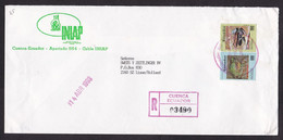Ecuador: Registered Cover To Netherlands, 1993, 2 Stamps, Frog, Endangered Animal, Rare Real Use (traces Of Use) - Ecuador