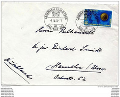 "38-11 -  Enveloppe Suisse Avec Rare Oblit Illustrée De Cademario Casa Di Cura"" 1954 Illustration Papillon - Mariposas"