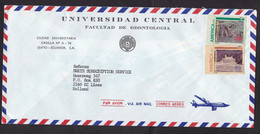 Ecuador: Airmail Cover To Netherlands, 1992, 2 Stamps, Heritage, Jungle, Ruin, UPAE (ruin Stamp Is Damaged) - Ecuador