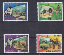 Ethiopie - Yvert 1525 / 8 ** - Transport - Chevaux - ânes - Valeur 3,50 Euros - Etiopía