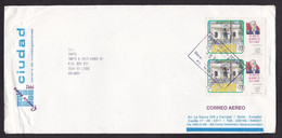 Ecuador: Airmail Cover To Netherlands, 1992, 2 Stamps, History (upper Stamp Is Damaged) - Ecuador